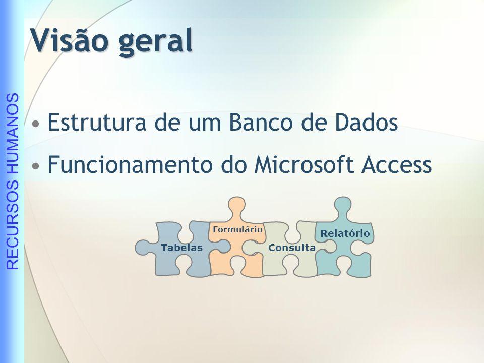 Visão geral Estrutura de um Banco de Dados