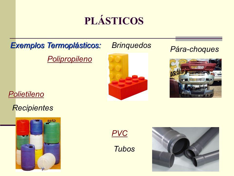PLÁSTICOS Exemplos Termoplásticos: Brinquedos Pára-choques