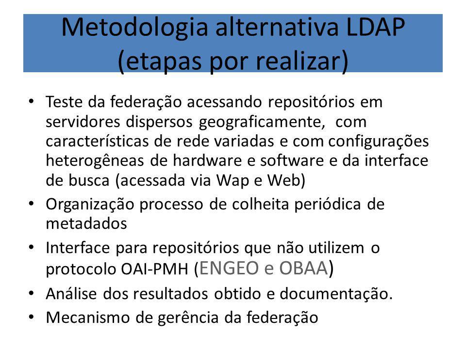 Metodologia alternativa LDAP (etapas por realizar)