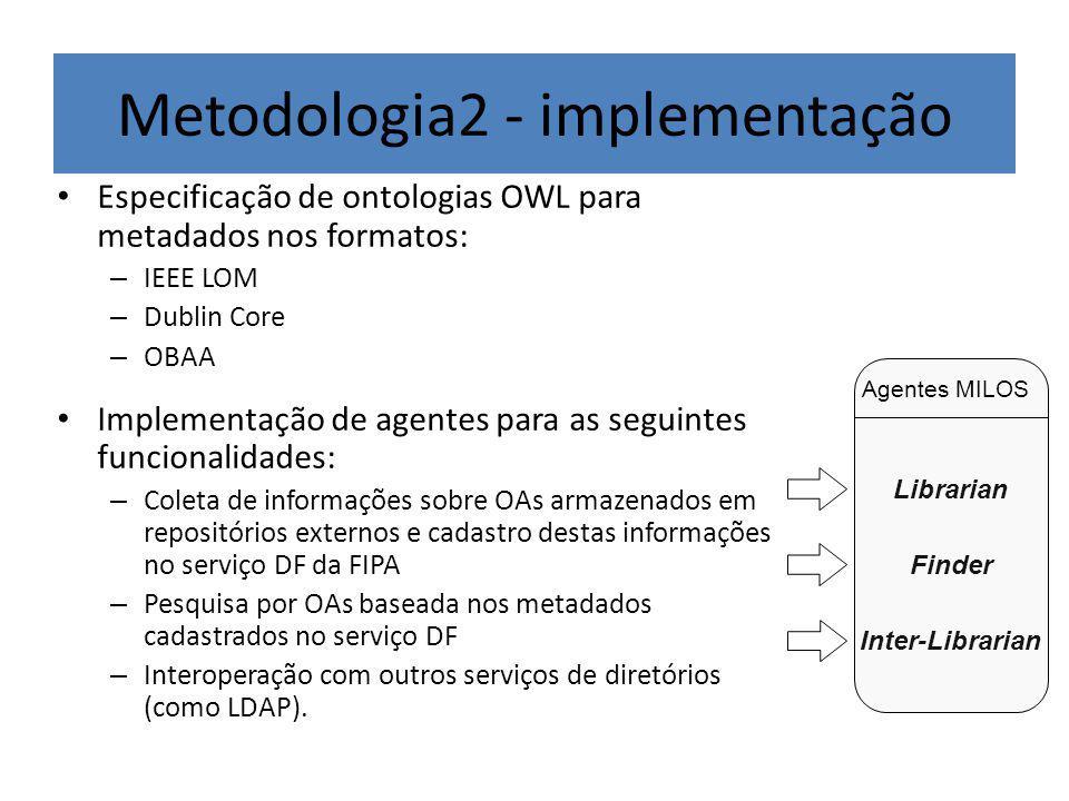 Metodologia2 - implementação