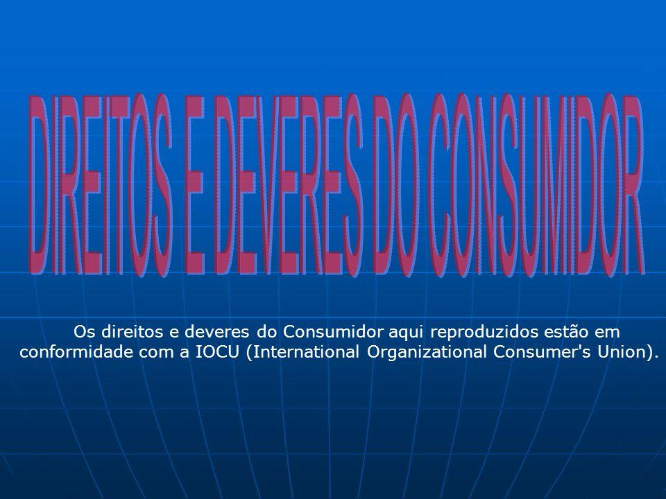 DIREITOS E DEVERES DO CONSUMIDOR