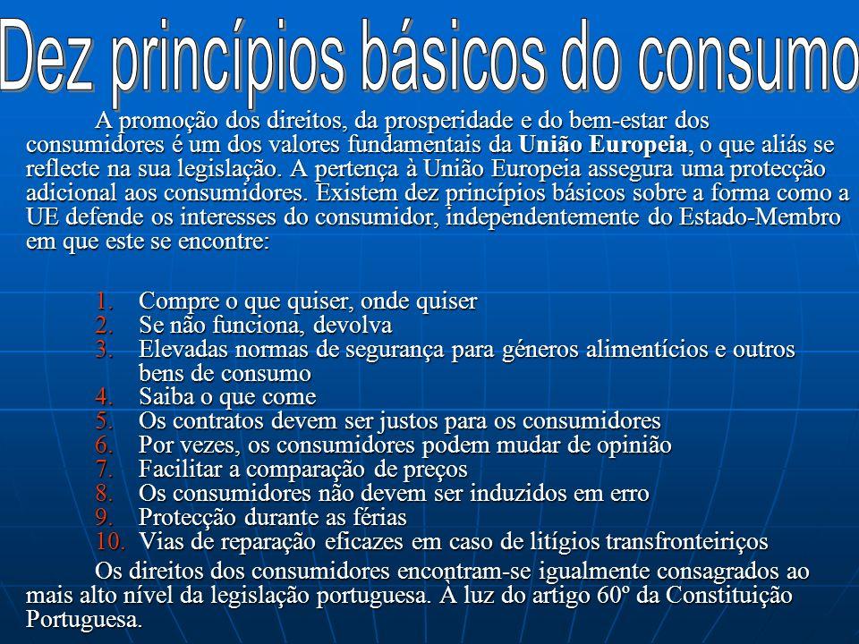Dez princípios básicos do consumo