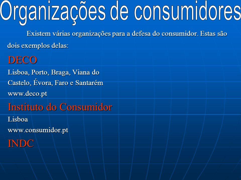 Organizações de consumidores
