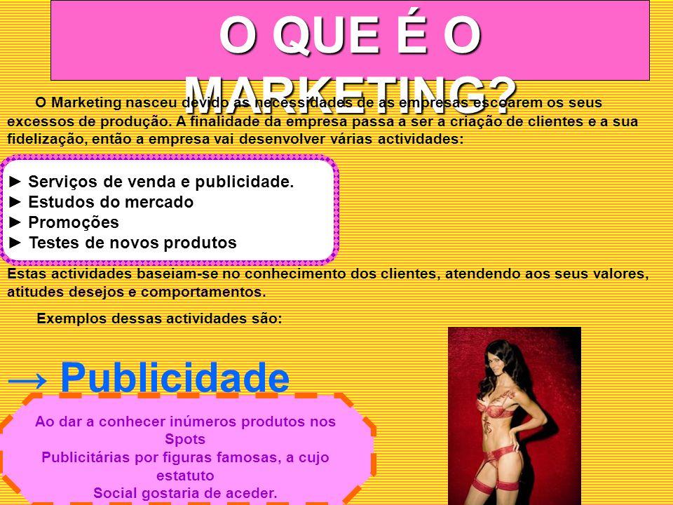 O QUE É O MARKETING → Publicidade