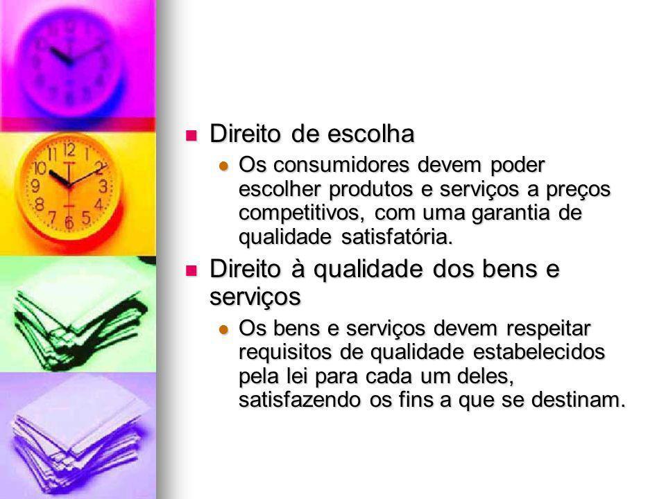 Direito à qualidade dos bens e serviços