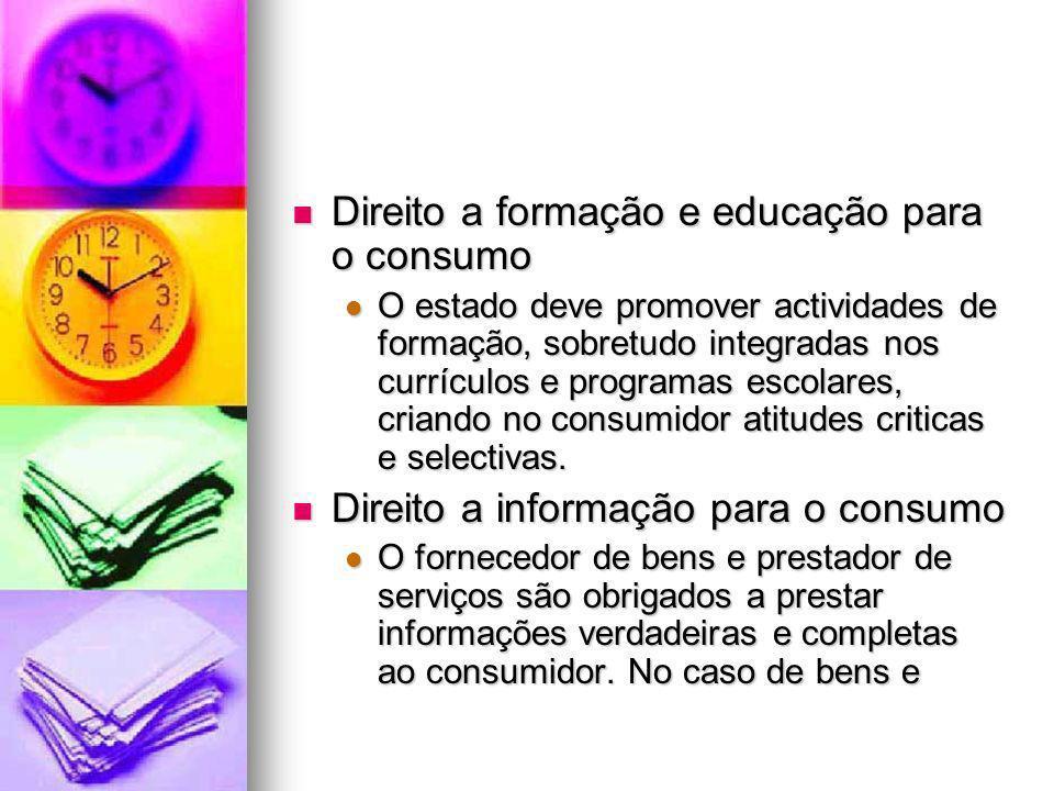 Direito a formação e educação para o consumo