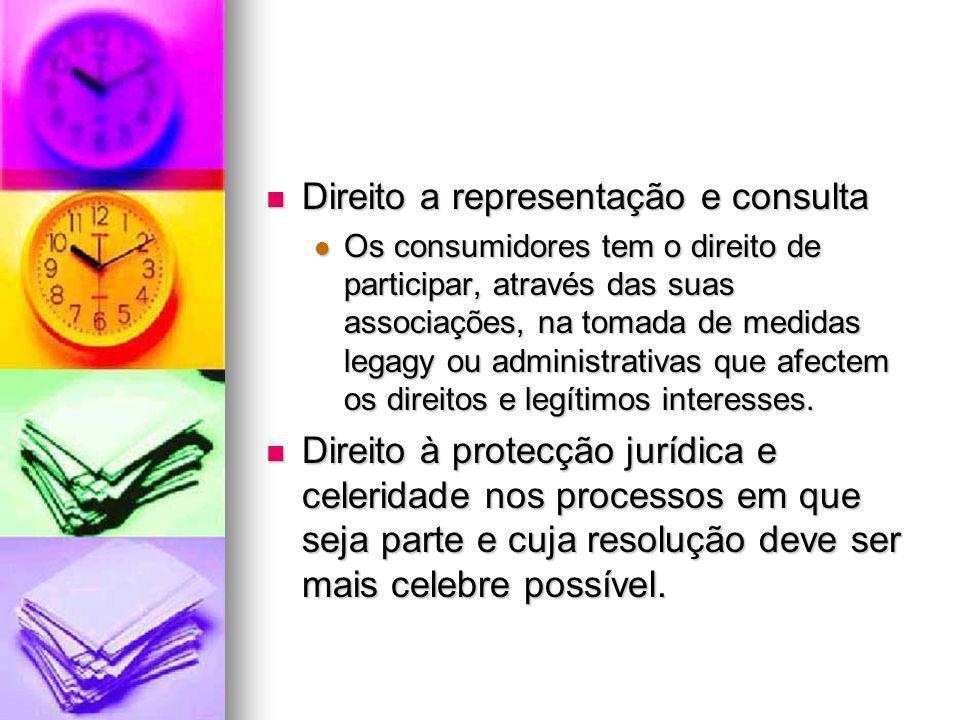 Direito a representação e consulta