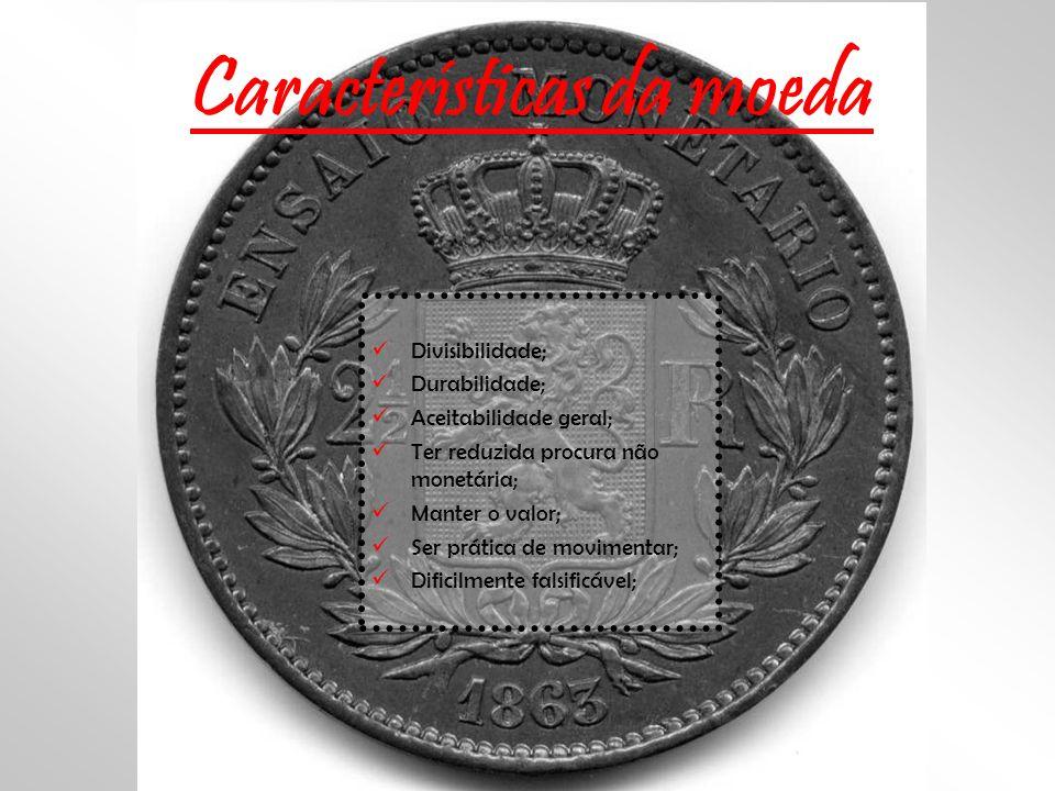 Características da moeda
