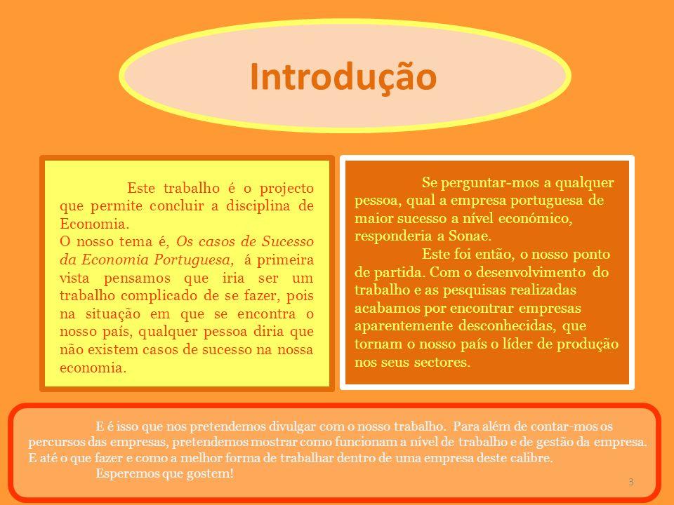 Introdução Se perguntar-mos a qualquer pessoa, qual a empresa portuguesa de maior sucesso a nível económico, responderia a Sonae.