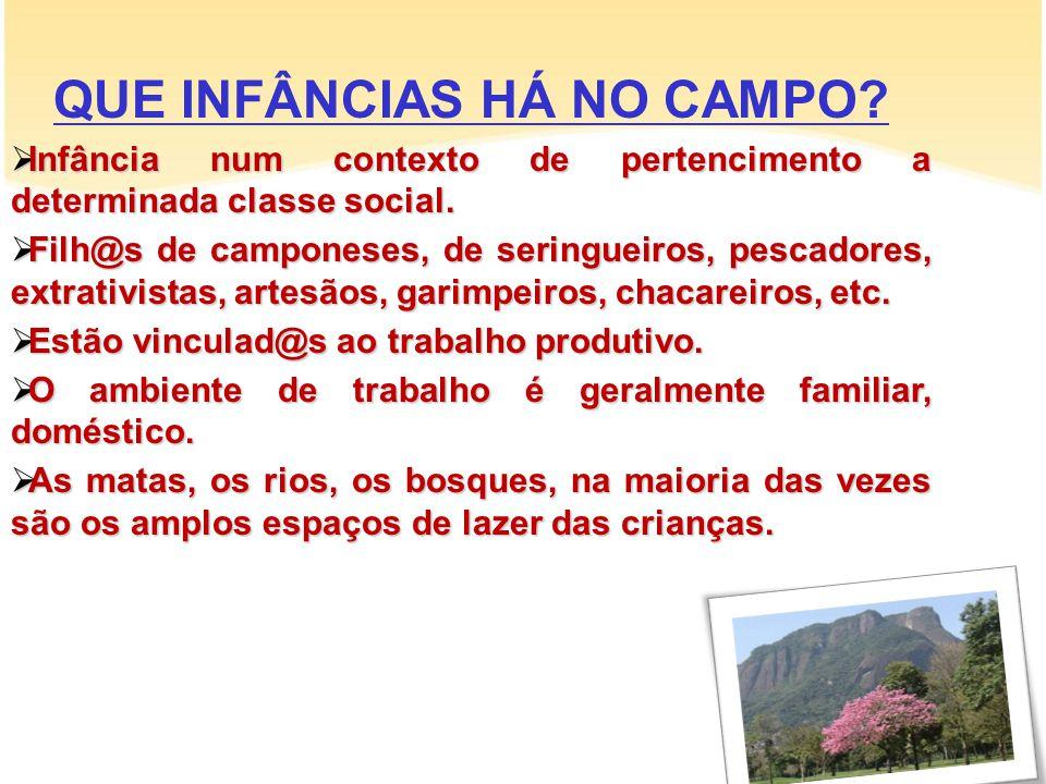 QUE INFÂNCIAS HÁ NO CAMPO