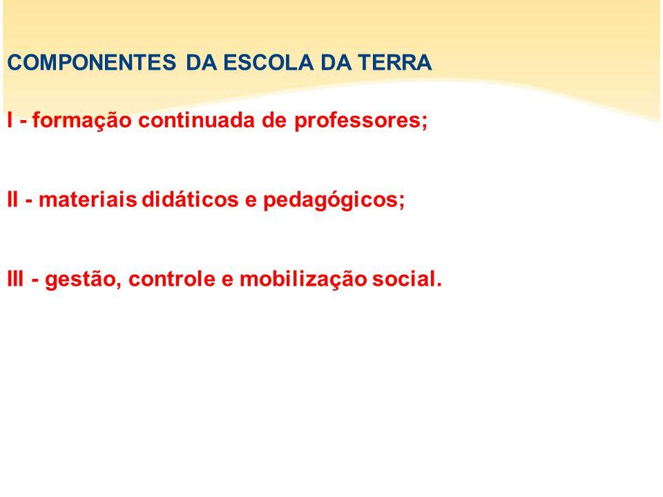 COMPONENTES DA ESCOLA DA TERRA