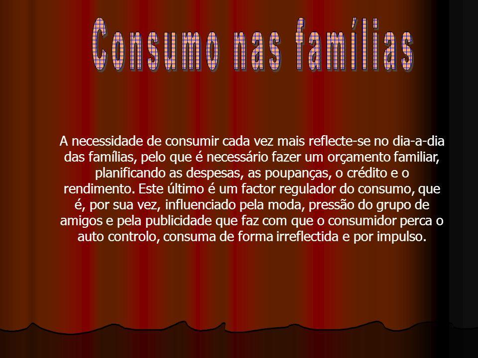 Consumo nas famílias