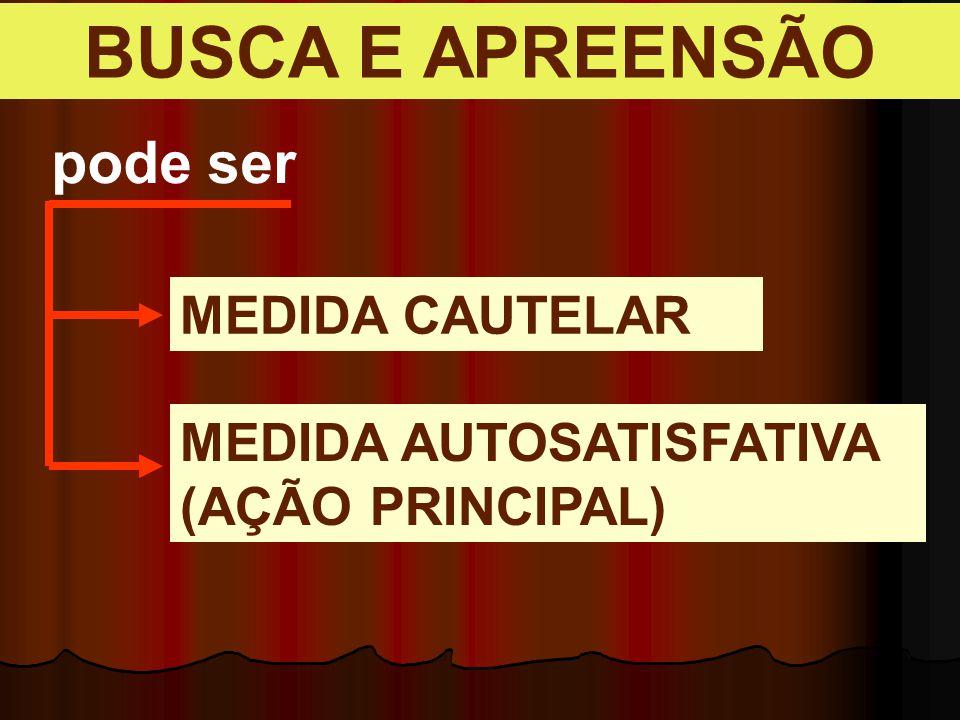 BUSCA E APREENSÃO pode ser MEDIDA CAUTELAR MEDIDA AUTOSATISFATIVA