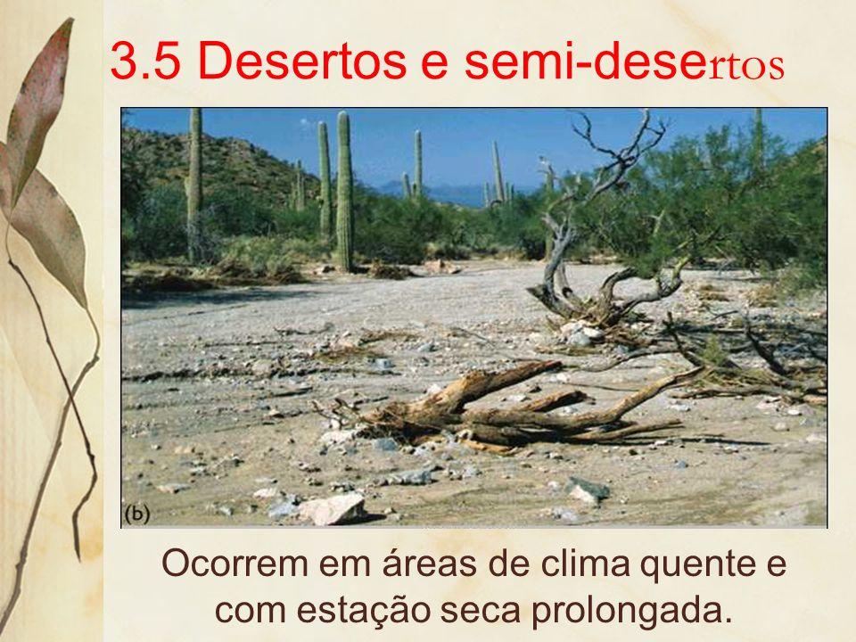 3.5 Desertos e semi-desertos