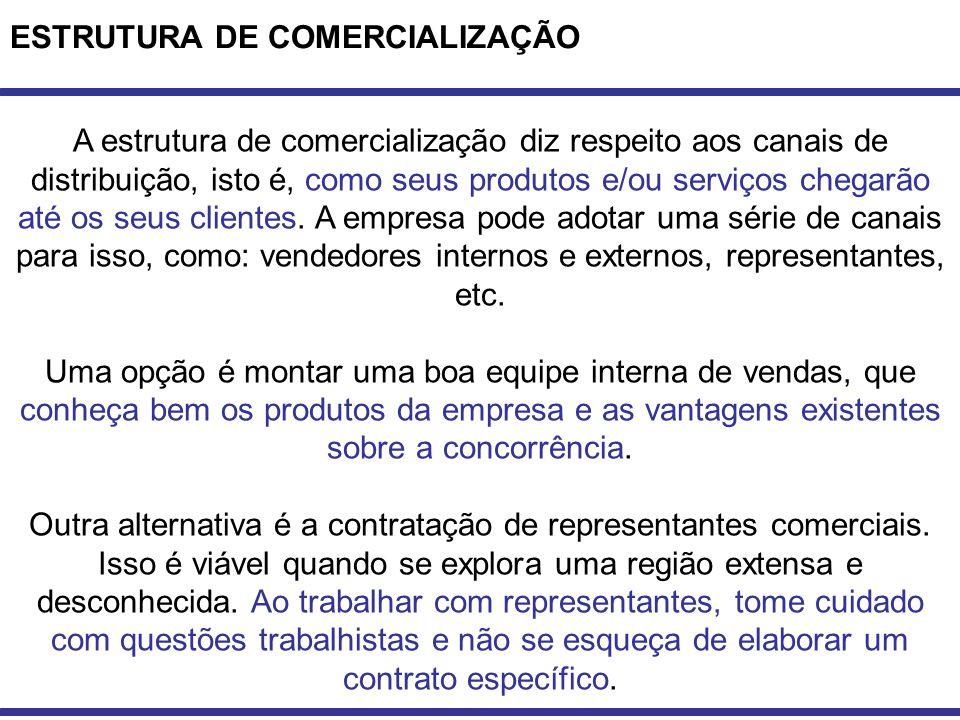 ESTRUTURA DE COMERCIALIZAÇÃO