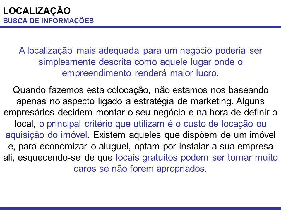 LOCALIZAÇÃO BUSCA DE INFORMAÇÕES.