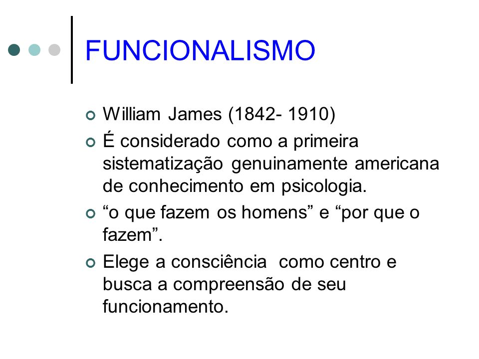 FUNCIONALISMO William James (1842- 1910)