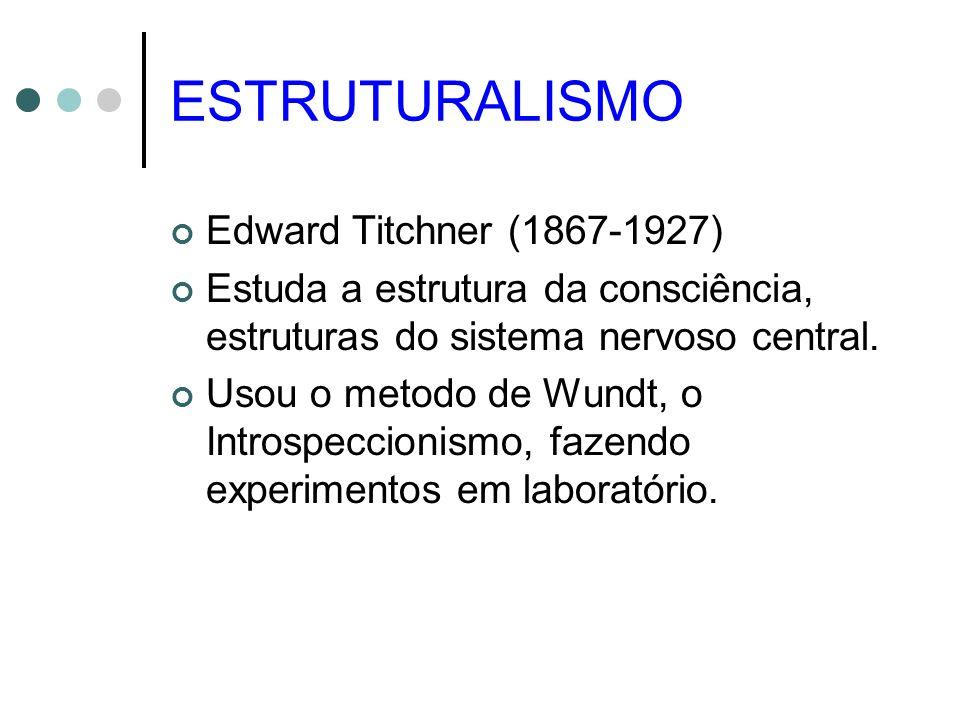 ESTRUTURALISMO Edward Titchner (1867-1927)