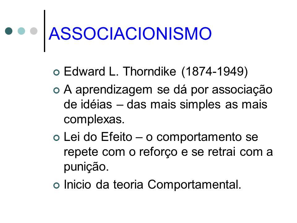ASSOCIACIONISMO Edward L. Thorndike (1874-1949)