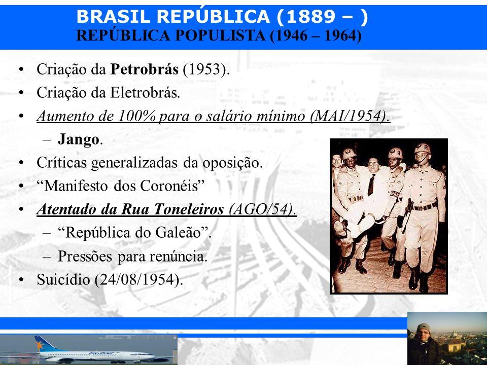 Criação da Petrobrás (1953).