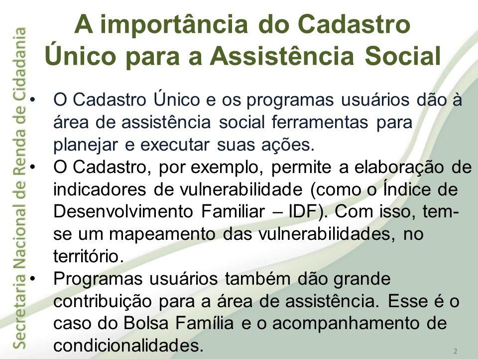A importância do Cadastro Único para a Assistência Social
