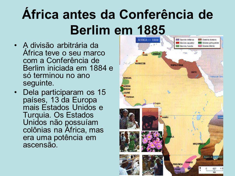 África antes da Conferência de Berlim em 1885