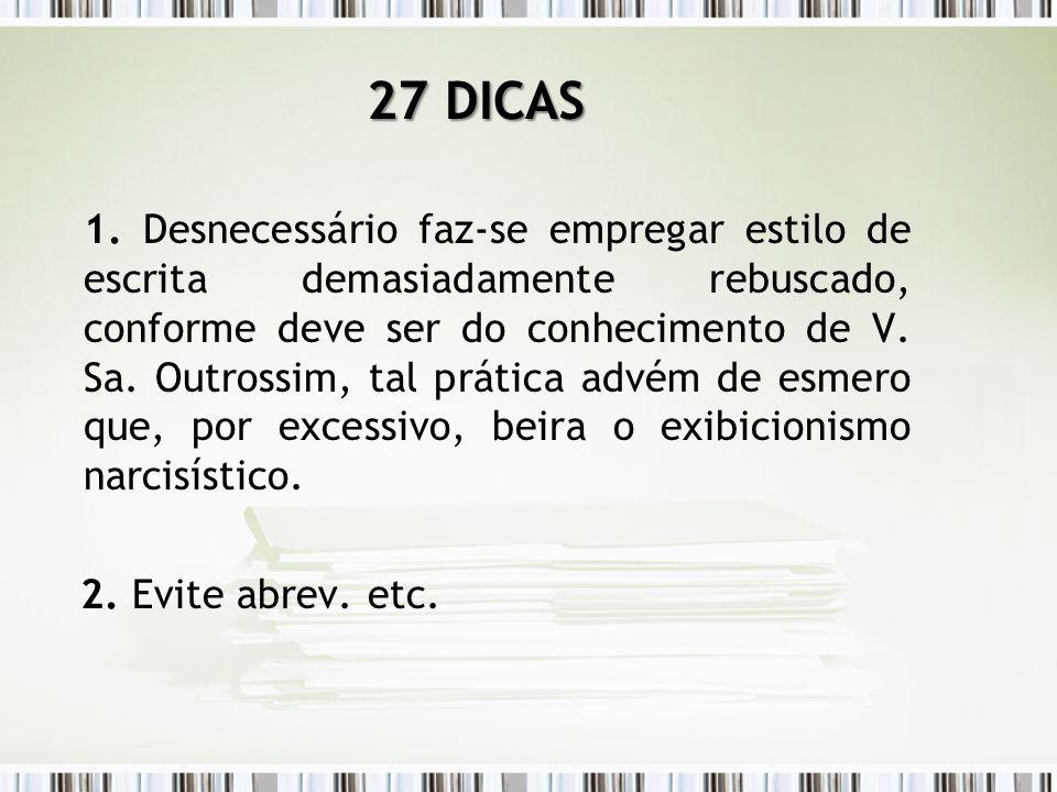 27 DICAS