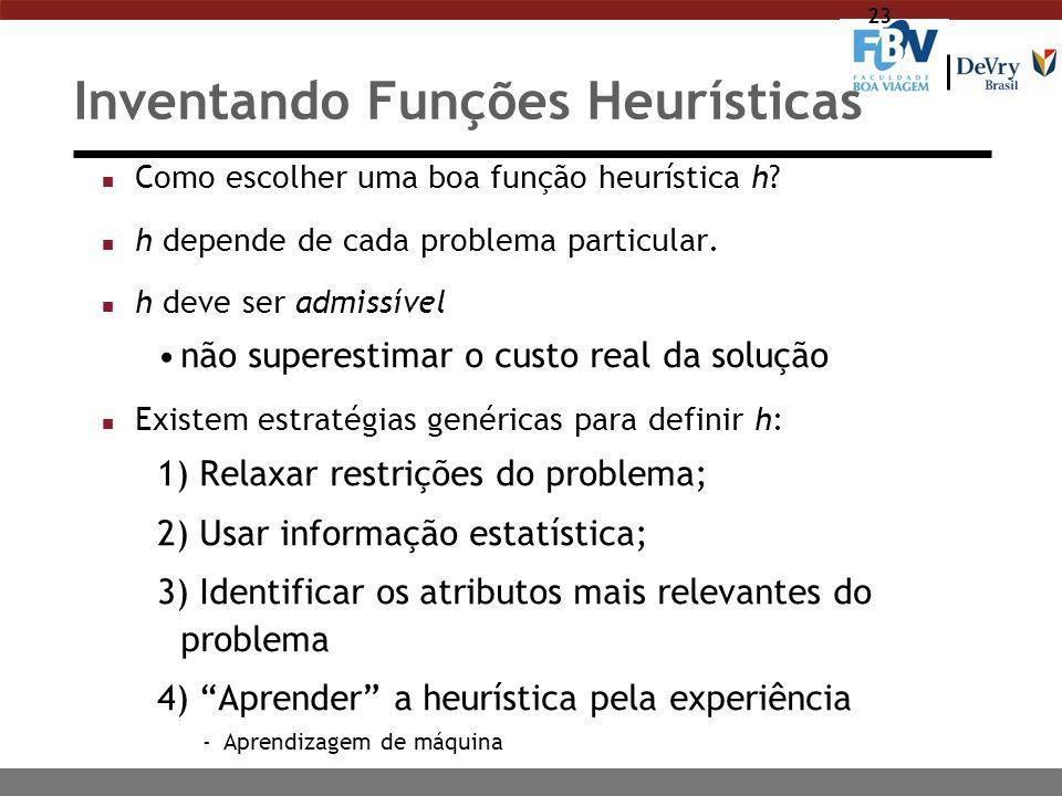 Inventando Funções Heurísticas