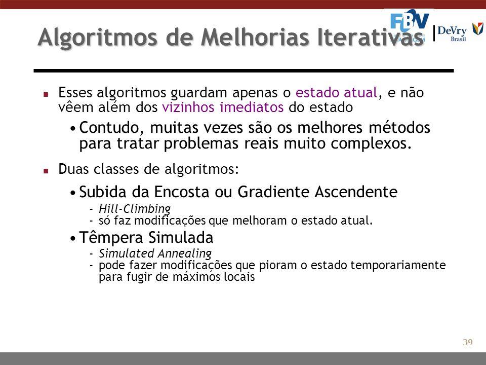 Algoritmos de Melhorias Iterativas