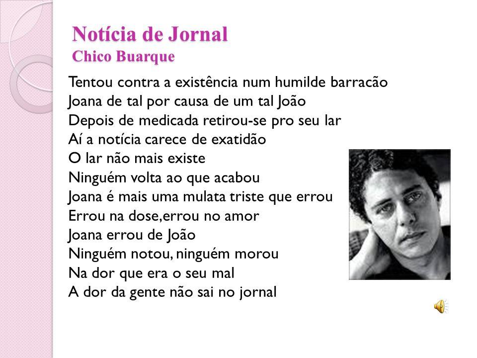 Notícia de Jornal Chico Buarque