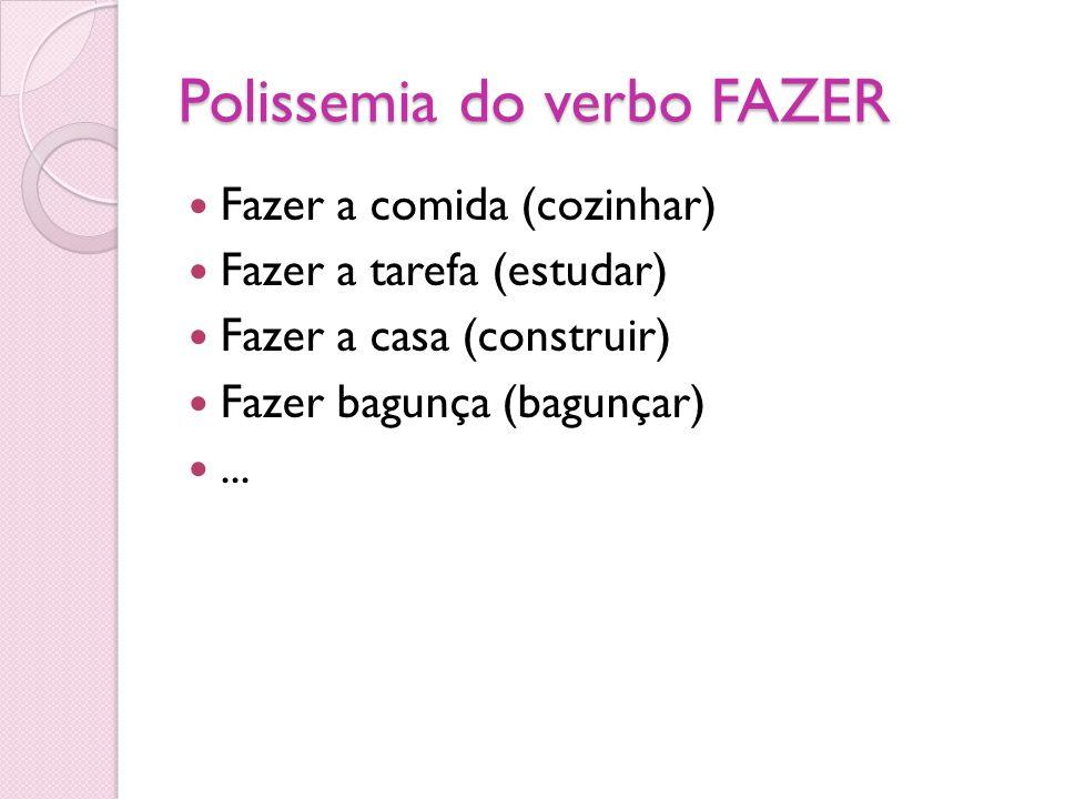 Polissemia do verbo FAZER