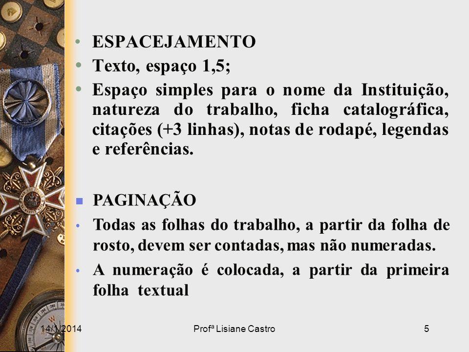 ESPACEJAMENTO Texto, espaço 1,5;