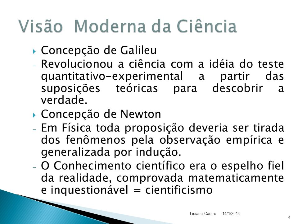 Visão Moderna da Ciência