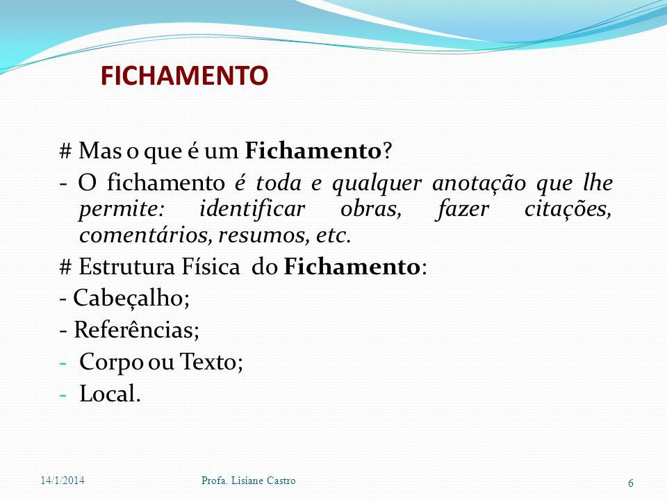 FICHAMENTO # Mas o que é um Fichamento