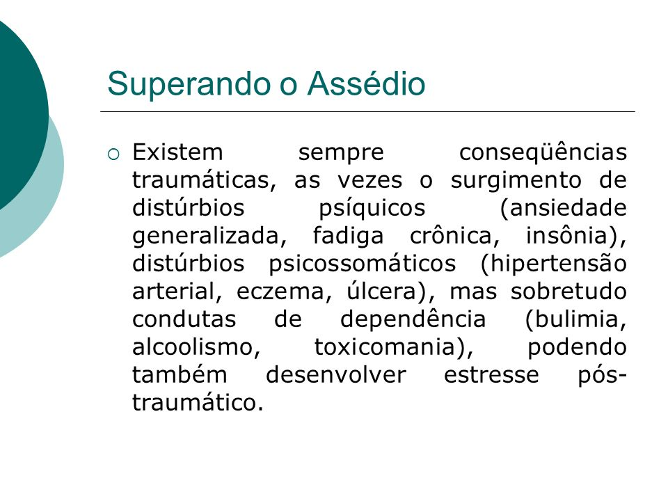Superando o Assédio