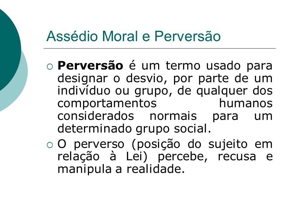 Assédio Moral e Perversão