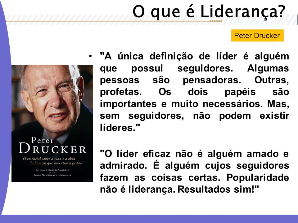 O que é Liderança Peter Drucker.