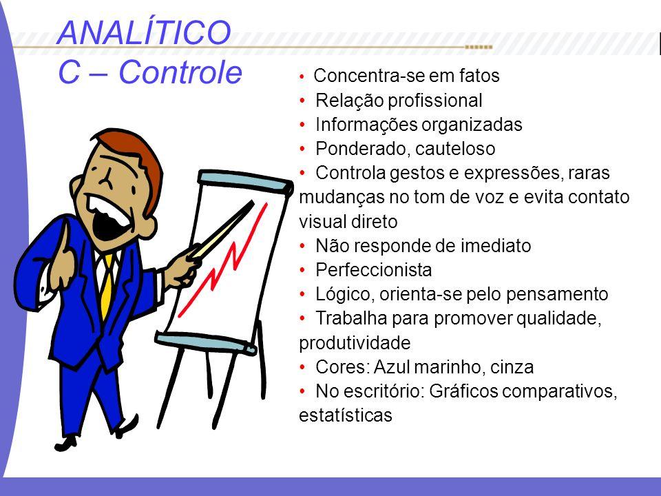ANALÍTICO C – Controle Relação profissional Informações organizadas