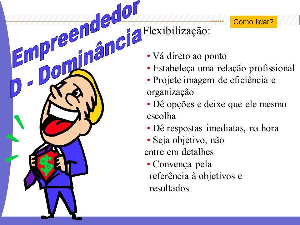 Empreendedor D - Dominância Flexibilização: Vá direto ao ponto