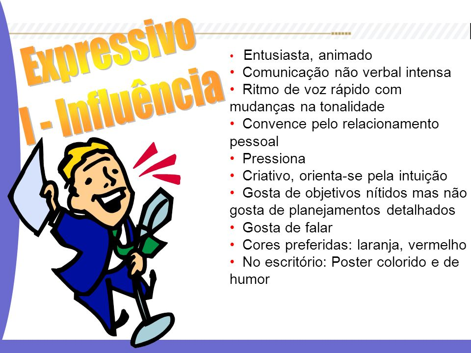 Expressivo I - Influência Comunicação não verbal intensa