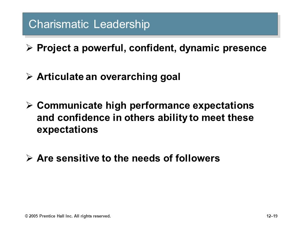 Charismatic Leadership