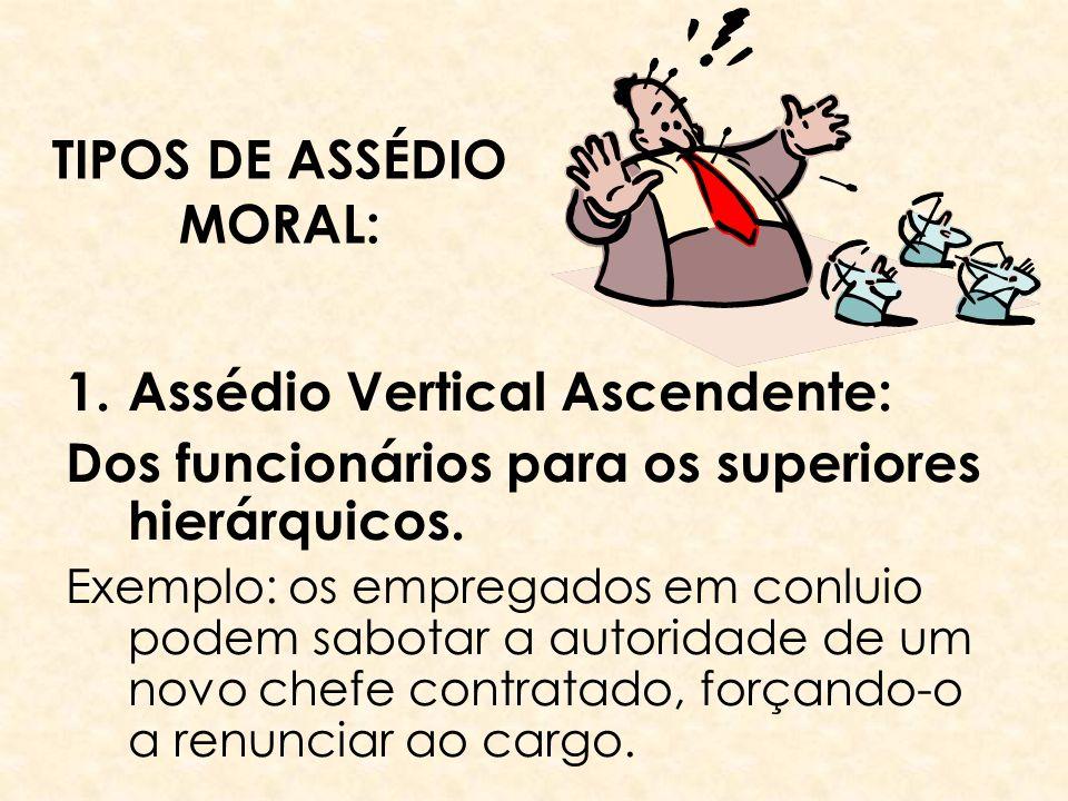 TIPOS DE ASSÉDIO MORAL: