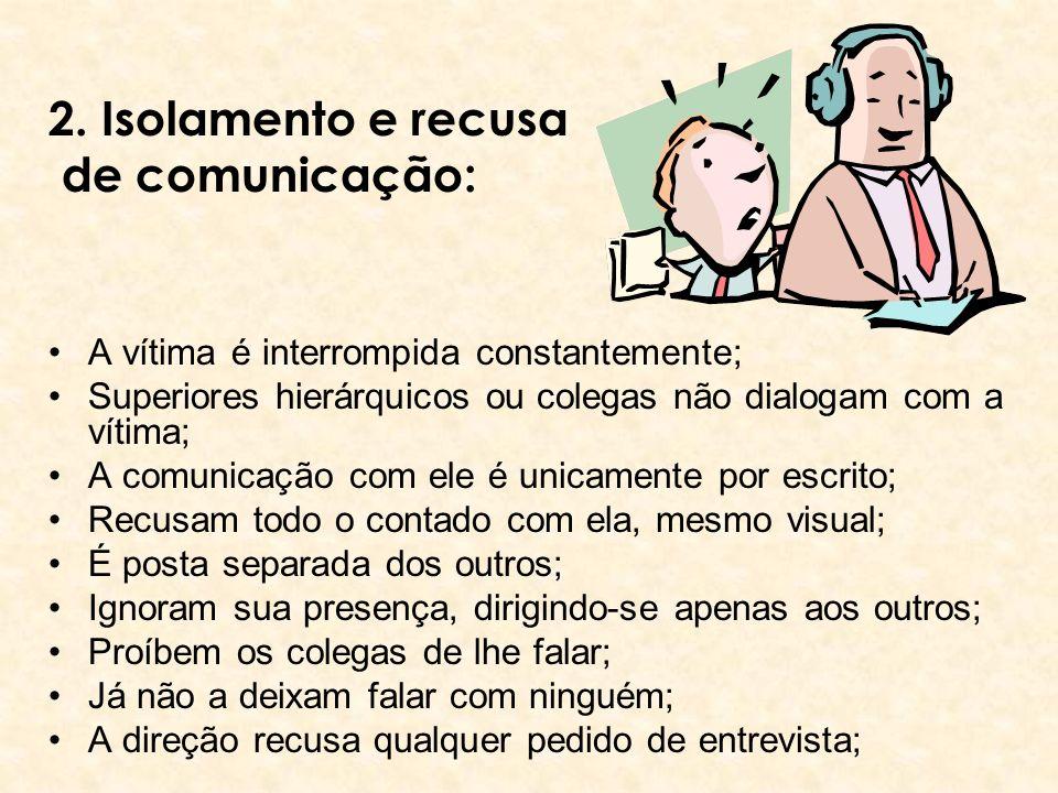 2. Isolamento e recusa de comunicação: