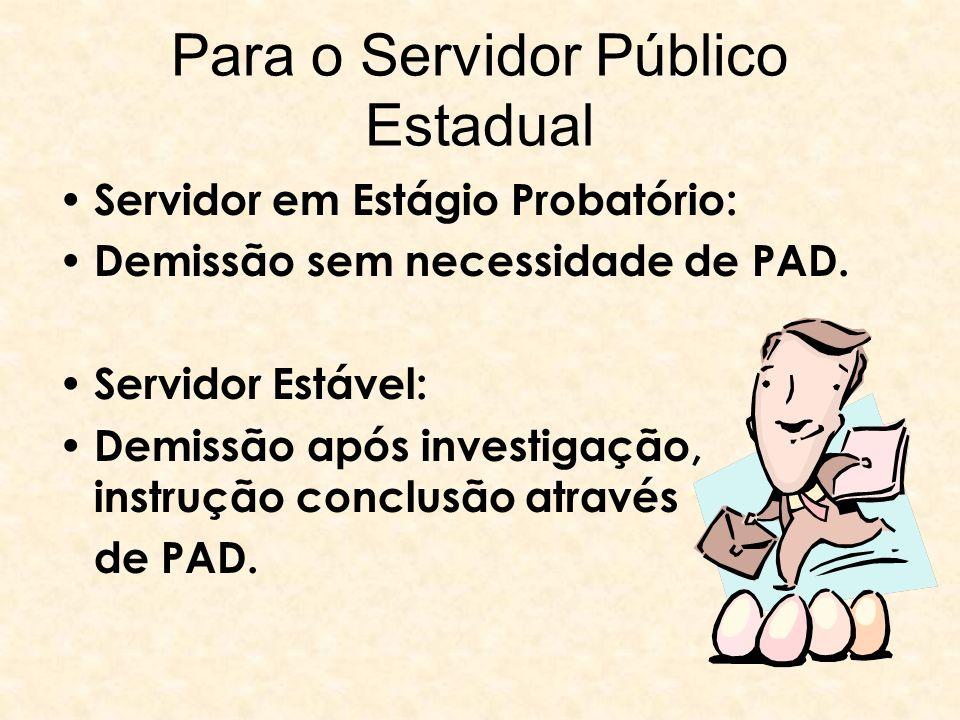 Para o Servidor Público Estadual