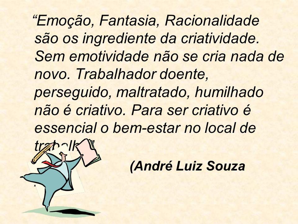 Emoção, Fantasia, Racionalidade são os ingrediente da criatividade