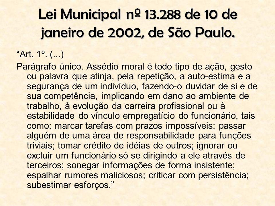 Lei Municipal nº 13.288 de 10 de janeiro de 2002, de São Paulo.