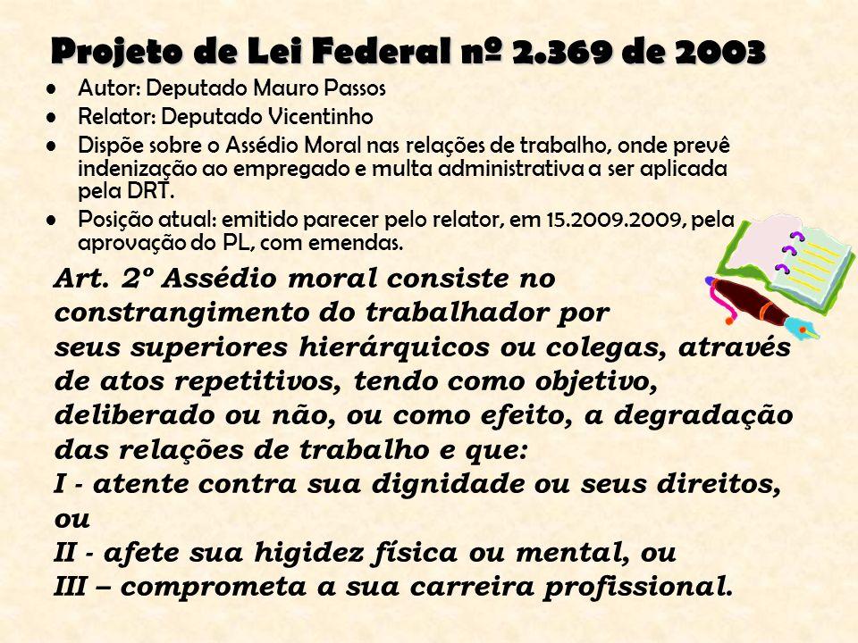 Projeto de Lei Federal nº 2.369 de 2003