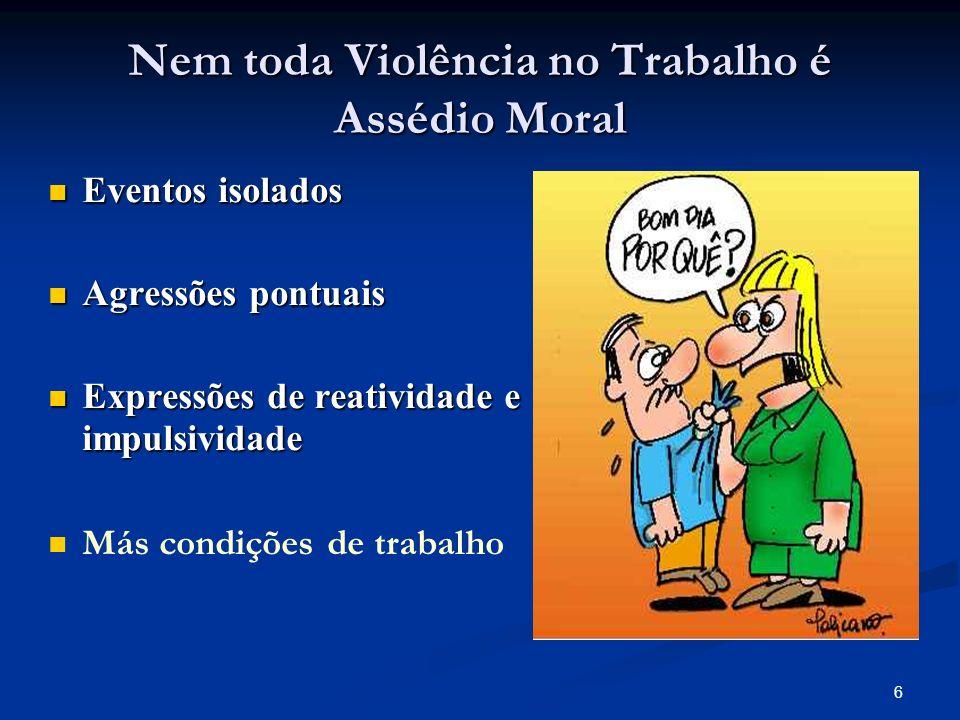 Nem toda Violência no Trabalho é Assédio Moral