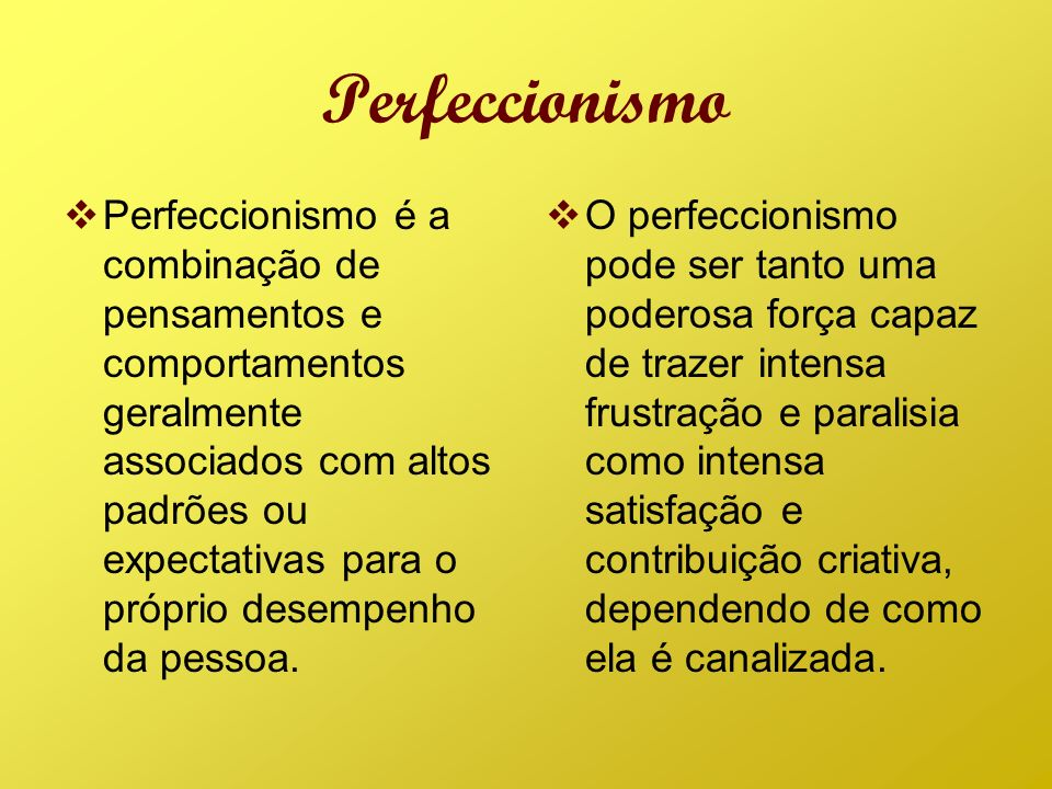 Perfeccionismo