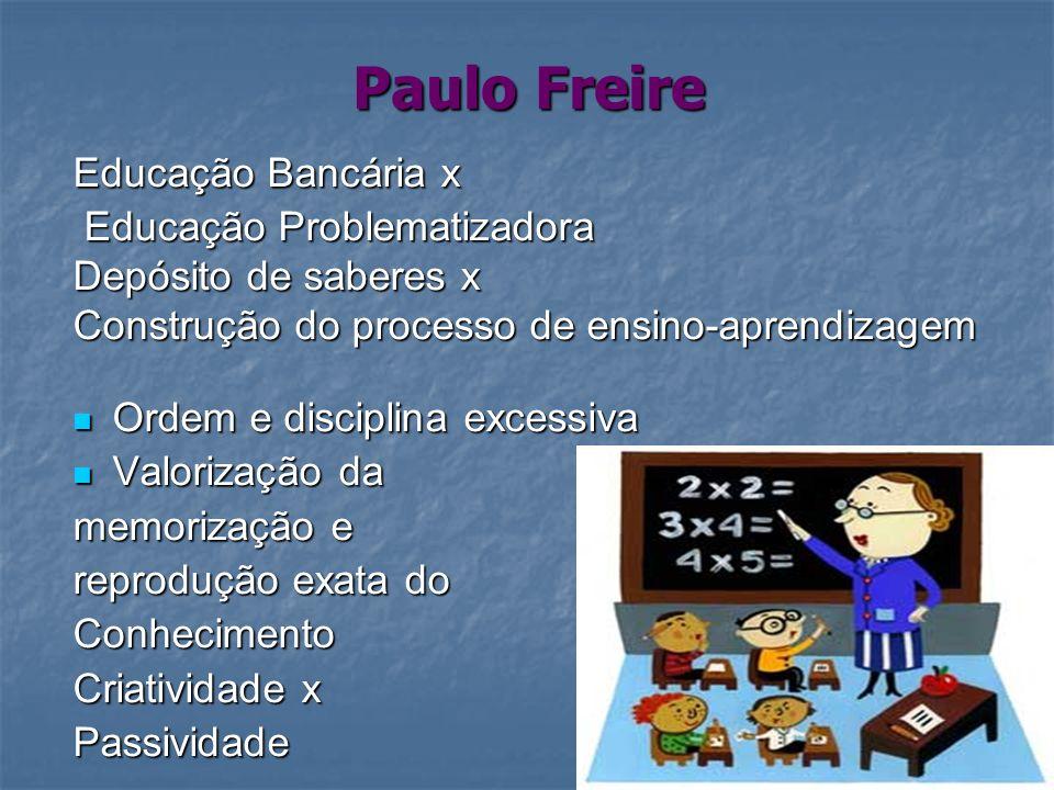 Paulo Freire Educação Bancária x Educação Problematizadora